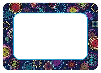 Teacher Created Resources Name Tags/Label, Fireworks, All Grades (TCR5455)