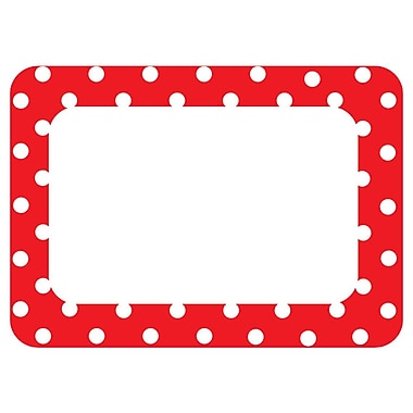 Teacher Created Resources All Grade Name Tags/Label, Red Polka Dots 2