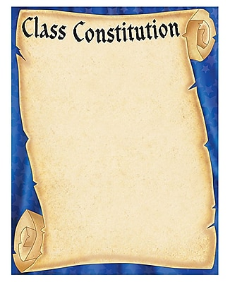 Teacher Created Resources Class Constitution Scroll Chart, Grade 1st - 6th (TCR7721)