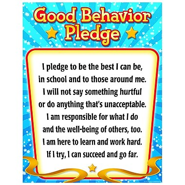 Teacher Created Resources Good Behavior Pledge Chart, Grade 1st - 6th (TCR7790)