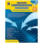 """Teacher Created Resources """"Targeting Comprehension Strategies for the Common Core"""" Book, 3rd Grade (TCR8035)"""