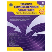 """Teacher Created Resources """"Targeting Comprehension Strategies for the Common Core"""" Book, 5th Grade (TCR8048)"""