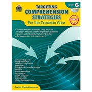 "Teacher Created Resources ""Targeting Comprehension Strategies for the Common Core"" Book, Grade 6th"