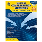 """Teacher Created Resources """"Targeting Comprehension Strategies for the Common Core"""" Book, 7th Grade (TCR8054)"""