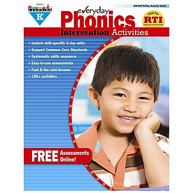 Newmark Learning Everyday Phonics Intervention Activities Book, Grade K