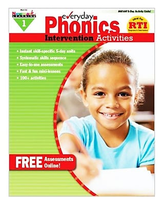 Newmark Learning Everyday Phonics Intervention Activities Book, Grade 1