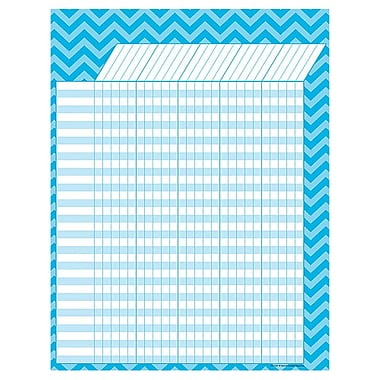 Teacher Created Resources Large Incentive Chart, Aqua Chevron, 17