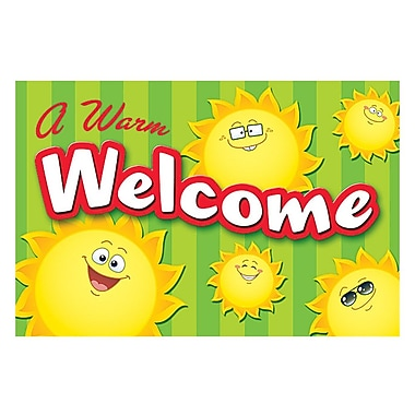 Teacher Created Resources Welcome Post Card, Happy Suns, 4
