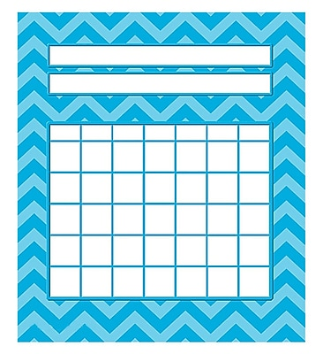 Teacher Created Resources Mini Incentive Chart, Aqua Chevron, 5-1/4