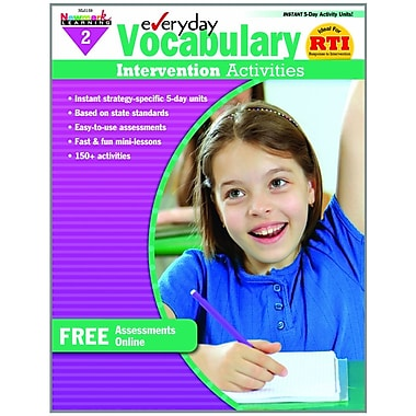 Newmark Learning Everyday Vocabulary Intervention Activities, Grade 2