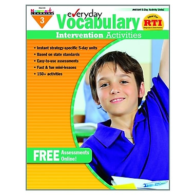 Newmark Learning Intervention Activities Book, Grade 3