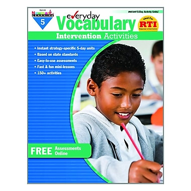 Newmark Learning Intervention Activities Book, Grade 5