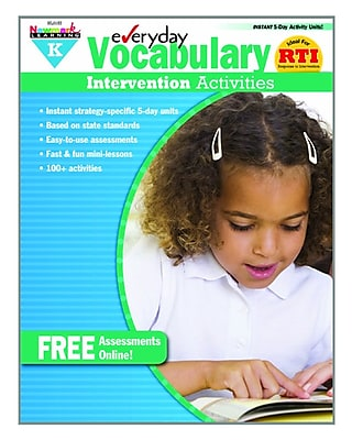 Newmark Learning Everyday Vocabulary Intervention Activities, Grade K