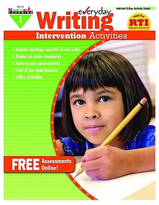 Newmark Learning Everyday Writing Intervention Activities Book, Grade 1