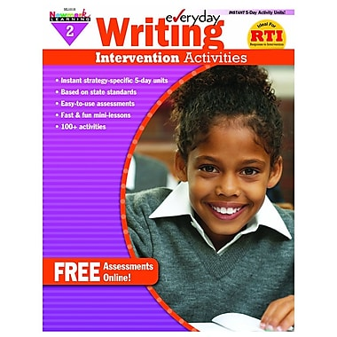 Newmark Learning Everyday Writing Intervention Activities Book, Grade 2