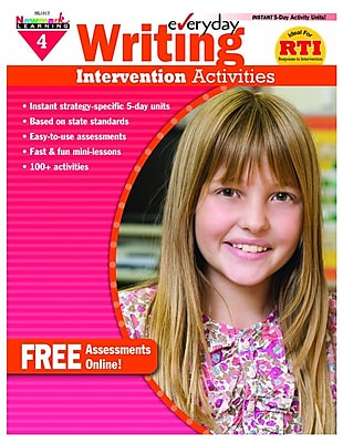 Newmark Learning Everyday Writing Intervention Activities Book, Grade 4
