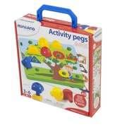 Miniland Educational Activity Pegs, 18 Piece