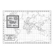 Kappa Map Group World Outline Map Study Pad
