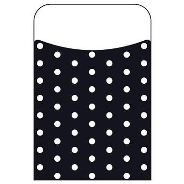 Trend Enterprises® Polka Dots Black Terrific Pocket, 40/Pack