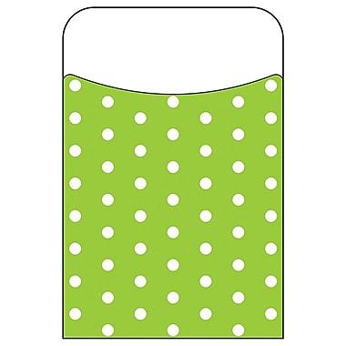 Trend Enterprises® Polka Dots Lime Terrific Pocket, 40/Pack