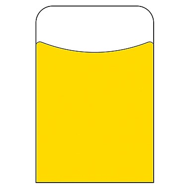 Trend Enterprises® Yellow Terrific Pocket, 40/Pack