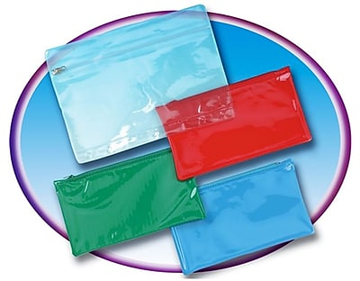 Charles Leonard Pencil Pouch With Ziplock Closure, Clear
