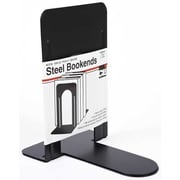 "Charles Leonard 9"" Bookends, Black, 4/Pack (CHL87915)"