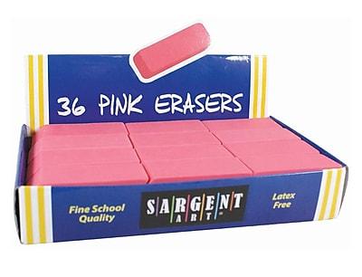 Sargent Art™ Large Eraser, Pink, 36/Pack