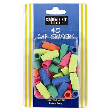 Sargent Art 40-count Cap Eraser, Assorted, 240/Pack (SAR361015)