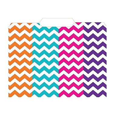 Top Notch Teacher Products File Folder, Chevron, 12/Pack (TOP3344)