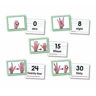 North Star Teacher Resources 0-30 American Sign Language Cards Set (NST9093)