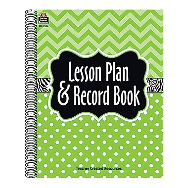 Teacher Created Resources – Cahier de bord et plans de cours, chevrons et pois lime (TCR2384)