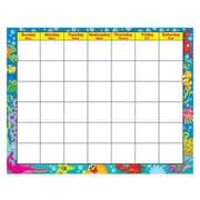 "Trend Enterprises® 22"" x 28"" Wipe-Off® Monthly Calendar, Sea Buddies™"