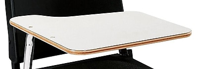 NPS® Right Hand Removable Tablet Arm For Stack Chair, White/Chrome