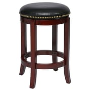 "Boraam Cordova 24"" Ruberwood Swivel Stool, Cherry"