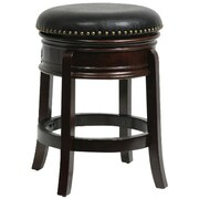 "Boraam Hamilton 24"" Wood Swivel Stool, Cappuccino"