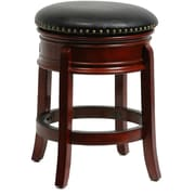 "Boraam Hamilton 24"" Wood Swivel Stool, Cherry"