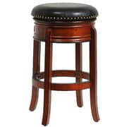 "Boraam Hamilton 29"" Wood Swivel Stool, Brandy"