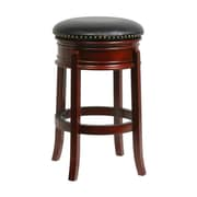 "Boraam Hamilton 29"" Wood Swivel Stool, Cherry"
