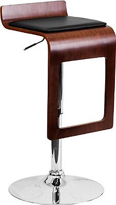 Flash Furniture 34'' Contemporary Adjustable Height Vinyl Bar Stool, Walnut (2SD20751WAL)