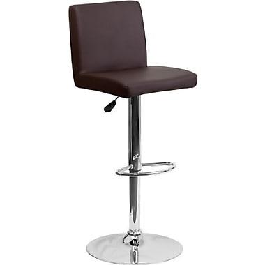 Flash Furniture – Tabouret de bar réglable en vinyle avec base chromée, 15 1/2 x 18 1/2 po
