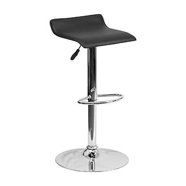 Flash Furniture – Tabouret de bar de 15 x 15 po en vinyle, base chromée, hauteur réglable