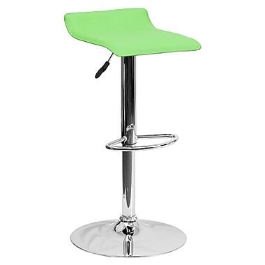 Flash Furniture – Tabouret de bar de 15 x 15 po en vinyle avec base chromée, hauteur réglable, blanc