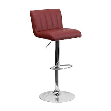 Flash Furniture – Tabouret de bar ajustable en vinyle avec base chromée, 16 1/2 x 19 1/2 po, bourgogne