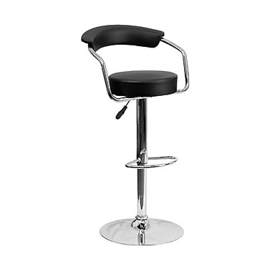 Flash Furniture – Tabouret de bar ajustable en vinyle, 19 1/2 x 19 1/2 po, noir