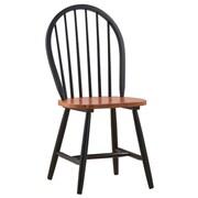 Boraam Solid Hardwood Farmhouse Dining Chair, Black/Cherry