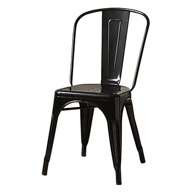 Monarch Cafe Chair Metal Casual / Kitchen Black