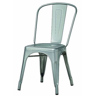 Monarch Cafe Chair Metal Casual / Kitchen Silver