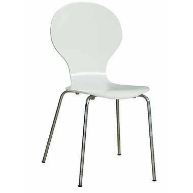 Monarch Dining Wood / Metal Chair White
