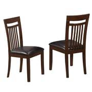 Monarch Side Chair Solid Wood / MDF Board Chair Antique/Oak Brown